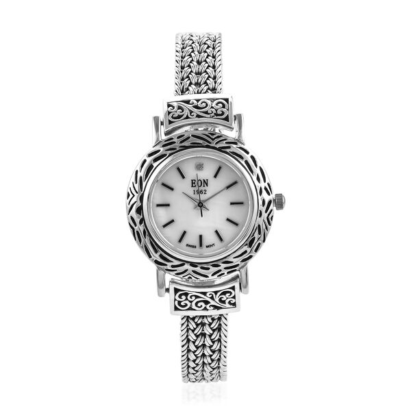 Doorbuster Deal- Royal Bali Collection EON 1962 Swiss Movement Water Resistant Watch (Size 8) with M