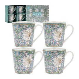 Set of 4 - Lesser & Pavey - William Morris Pimpernel Mugs - Set of 4