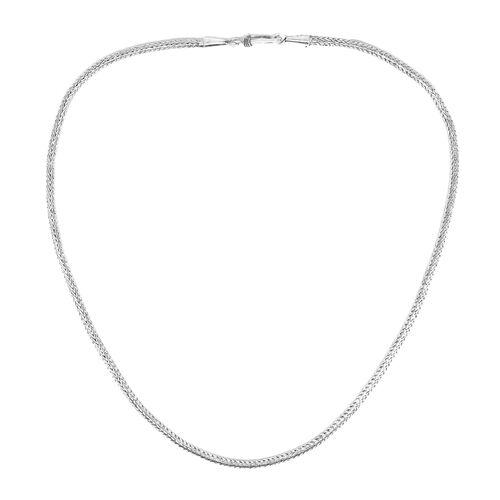 Royal Bali Collection Sterling Silver Tulang Naga Necklace (Size 30), Silver wt 24.65 Gms.