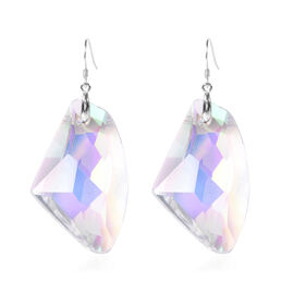 Simulated White Mystic Topaz Earrings in Rhodium Overlay Sterling Silver