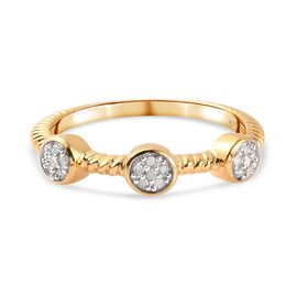 Diamond Ring in 14K Gold Overlay Sterling Silver