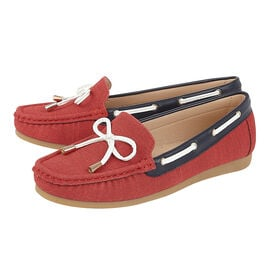 Lotus Hannah Deck Shoes in Red Colour