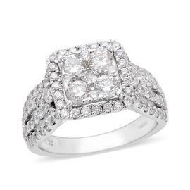 Diamond (2.01 Ct) 14K W Gold Ring  2.010  Ct.