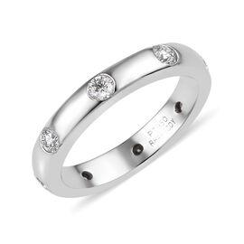 RHAPSODY 950 Platinum IGI Certified Diamond (Rnd) (E-F/VS) Band Ring 0.50 Ct, Platinum wt 6.15 Gms