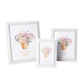 Set of 3  - Different Size Photo Frame (Size 4x6, 6x8 and 8x10 Cm) - White