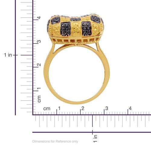 Black Diamond (Rnd), Diamond Ring in Gold Bond