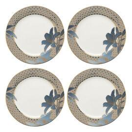 Set of 4 - Royal Worcester Blue Lily Fine Bone China Side Plates 20.3cm