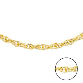 Close Out- 9K Yellow Gold Prince of Wales Necklace (Size 20)