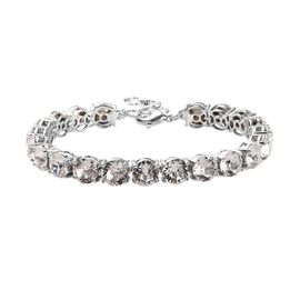 J Francis - Crystal from Swarovski White Crystal (Rnd) Bracelet (Size 7 with 1.25 inch Extender) in