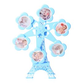 Rotating Ferris Wheel Musical Photo Frame (Size 36x36 Cm) - Blue
