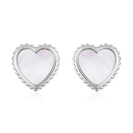 White Mother of Pearl (3.75 Ct) Sterling Silver Earring  3.750  Ct.