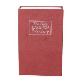 Red Colour Small Dictionary Diversion Secret, Hidden Book Safe with Key Lock (Size 18x11.5x5.5 Cm)