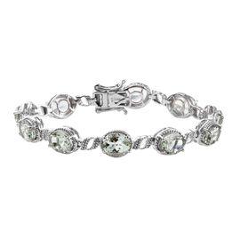 Prasiolite (Ovl) Bracelet (Size 7) in Platinum Overlay Sterling Silver   16.50 Ct, Silver wt 14.50 G