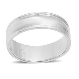 Designer Inspired- Sterling Silver Band Ring (Size M), Silver wt 3.9 Gms.