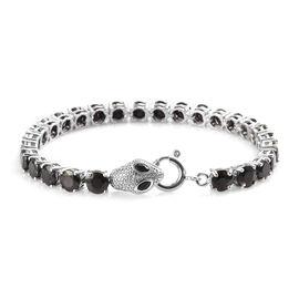 13 Carat Diamond and Multi Gemstone Snake Tennis Bracelet in Platinum Plated Silver 7.5 Inch