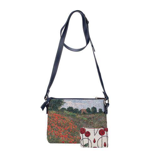 Signare Tapestry Monet - Poppy Field Crossbody Bag