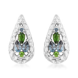 RACHEL GALLEY Misto Collection - London Blue Topaz and AA Russian Diopside Earrings (with Push Back)