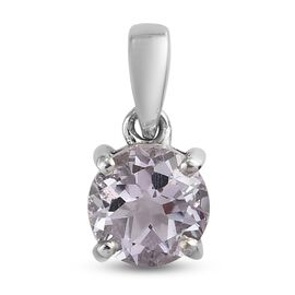 Pink Amethyst Pendant in Platinum Overlay Sterling Silver 1.02 ct  1.020  Ct.