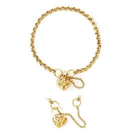 Heart Bracelet in 9K Gold 8 Inch