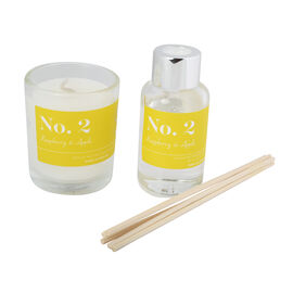 Wax Lyrical Gift Bag Includes Odour Neutralising Reed Diffuser (40ml) and Candle (66g) -  Apple and