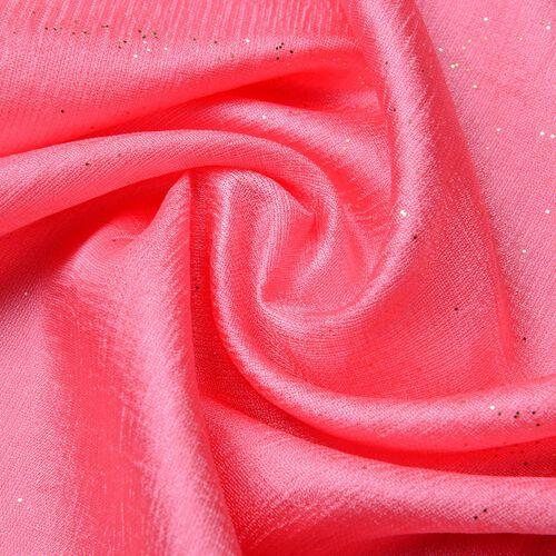 Micro - Cotton Blend Sparkle Scarf - Pink (Size 176X70 Cm)