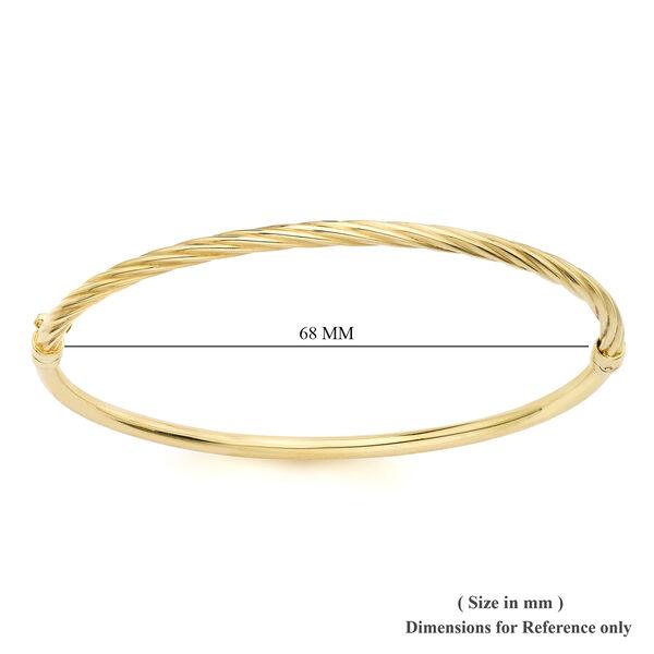 9K Yellow Gold Half Twisted Bangle (Size 7.5)