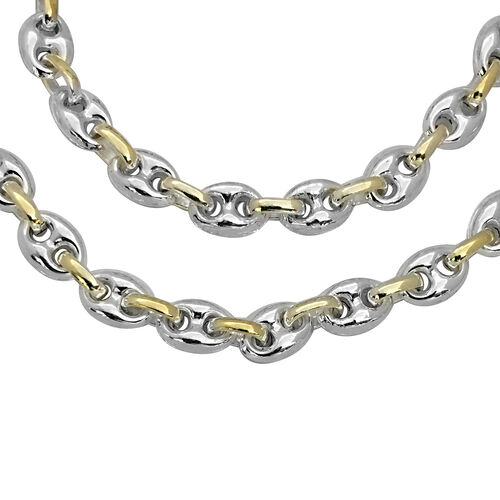 Puffed Mariner Chain Necklace in Sterling Silver 23 Grams 30 Inch
