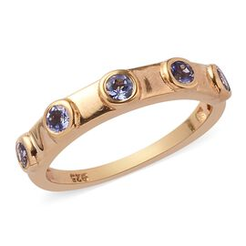 Tanzanite Ring in 14K Gold Overlay Sterling Silver 0.50 Ct.