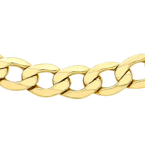 Curb Chain in 9K Gold 20 Inch