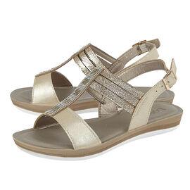 Lotus Gold Rome Sling-Back Sandals