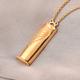 Personalised Engraved Secret Name Slider Necklace, Size 18 Inch