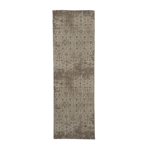 Premium Jacquard Woven Cotton Chenille Area Rug in Beige Colour (Size 80x240 cm)