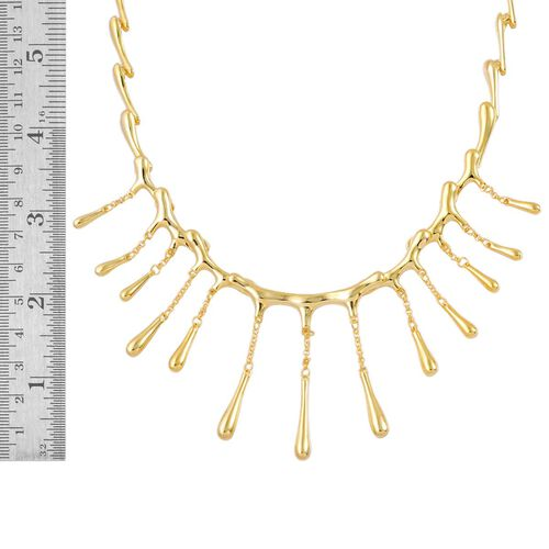LucyQ Multi Drip Necklace (Size 16 with 4 inch Extender) in Yellow Gold Overlay Sterling Silver 42.00 Gms.
