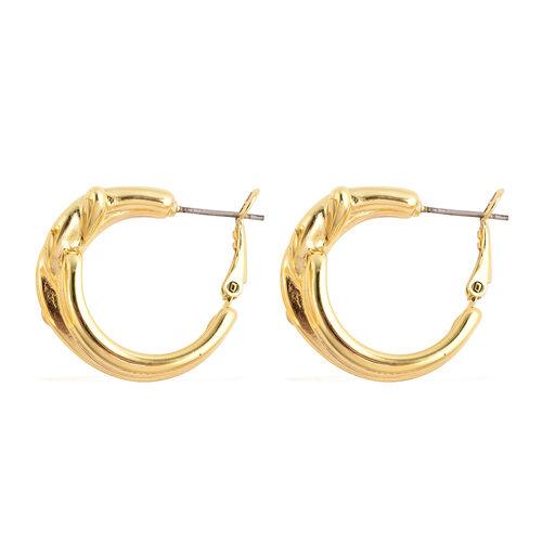 Knot Hoop Earrings in Gold Plated