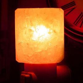 Square Shape Himalayan Salt Night Lamp - Pink 0.5 Kg(1.1 Lbs)
