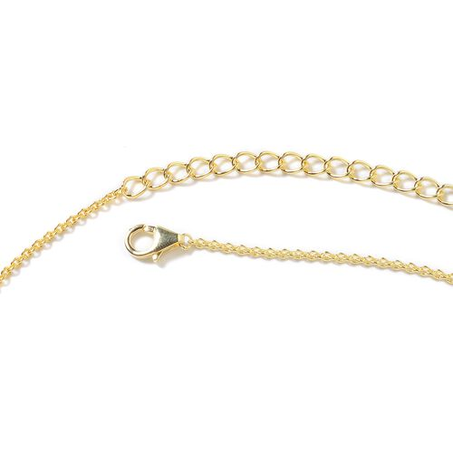 Lucy Q Yellow Gold Overlay Sterling Silver Multi Strand Necklace (Size 18 and 5 inch Extender), Silver wt 19.88 Gms.