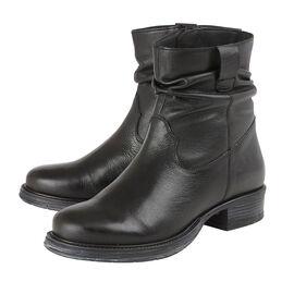 Lotus Black Leather Eloisa Ankle Boots