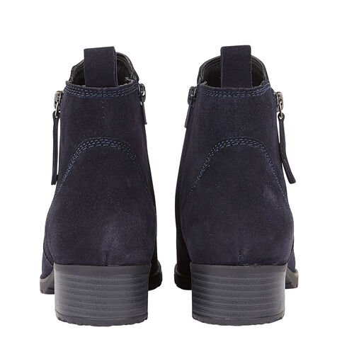 Lotus Stressless Navy Suede Samara Ankle Boots (Size 8)