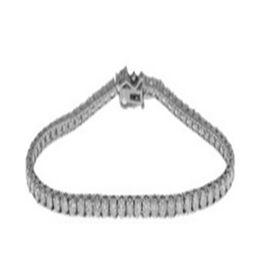 14K White Gold Diamond (I2-I3/G-H) Bracelet (Size 7) with Clasp Lock 2.99 Ct, Gold wt 5.85 Gms