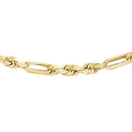 9K Yellow Gold Figarope Chain (Size 16), Gold wt 2.90 Gms