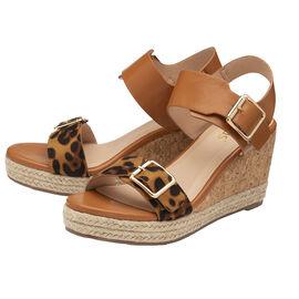 Lotus Primrose Wedge Sandals - Tan