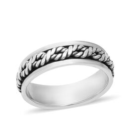Sterling Silver Twisted Rope Band Ring