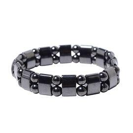 Hematite (Cush) Stretchable Bracelet (Size 7) 186.50 Ct.