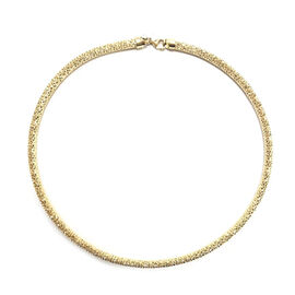 9K Yellow Gold Diamond Cut Necklace (Size 18 with 2 inch Extender), Gold wt 18.32 Gms