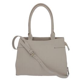 100% Genuine Leather Handbag with Adjustable Shoulder Strap and External Zipper Pocket (Size 31.5x10