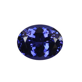 AAAA Tanzanite Oval 12.03X9.42X6.84 Faceted 5.65 Ct.