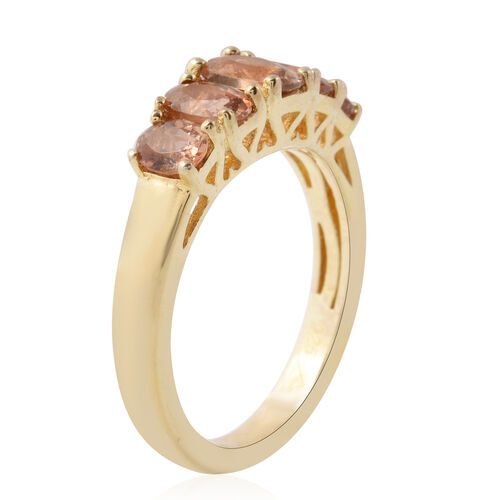Tuscon Mega Deals - Andalusite (Ovl) Five Stone Ring in Yellow Gold Overlay Sterling Silver 1.50 Ct.