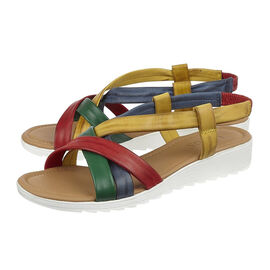 Lotus Multi Leather Rosanne Open-Toe Sandals