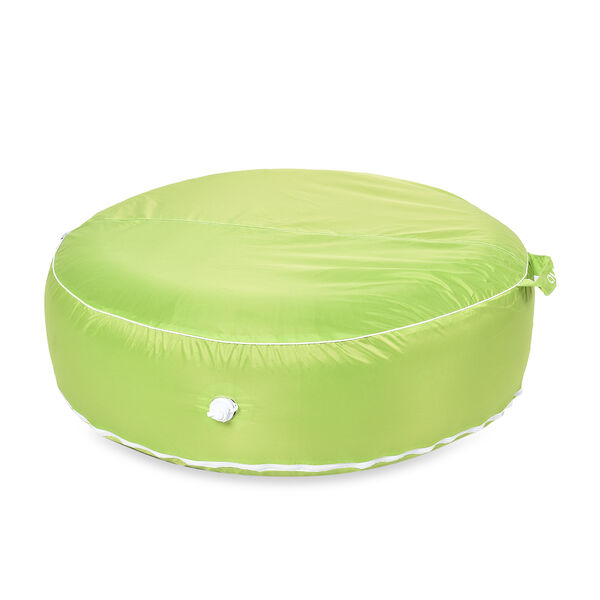 Indoor Outdoor Inflatable Round Pouffe (Size 97x97 Cm) - Green