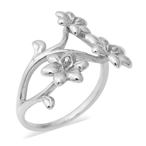 Floral Ring in Sterling Silver 3.50 Grams